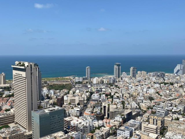 Penthouse for sale in a luxury tower on Rothschild Boulevard